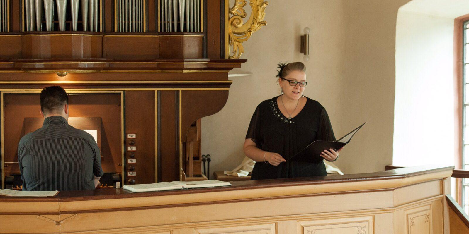 Viele Events wurden in Kombination von Gesang und Orgel begleitet.